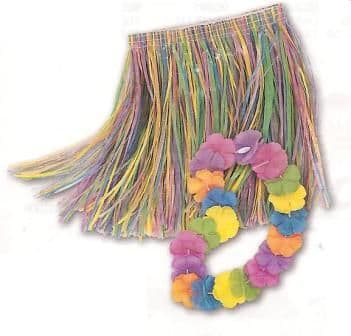 Childs Luau Skirt And Lei Set