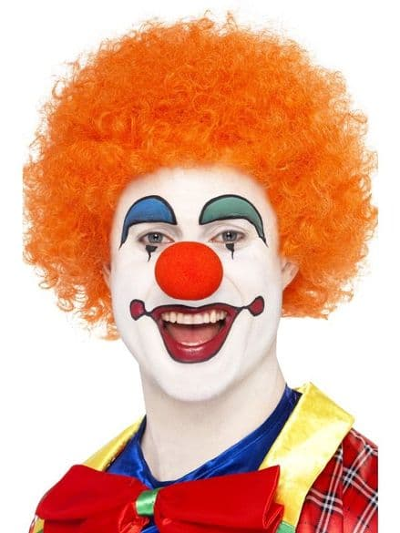 Clown Wig In Orange