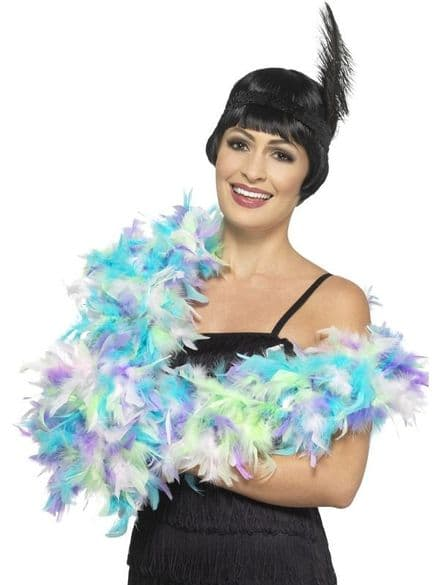 Deluxe Mixed Pastel Feather Boa