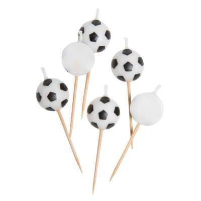 Football Candles 6 Pack