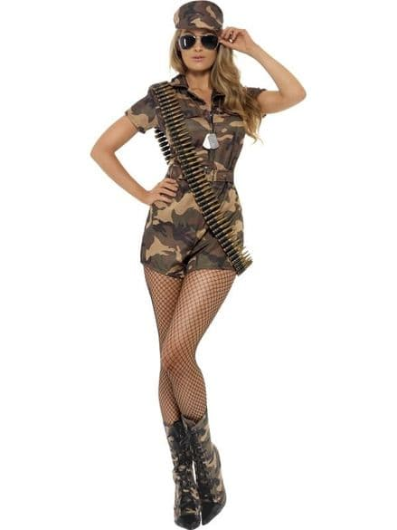 Forces Army Girl Sexy Costume