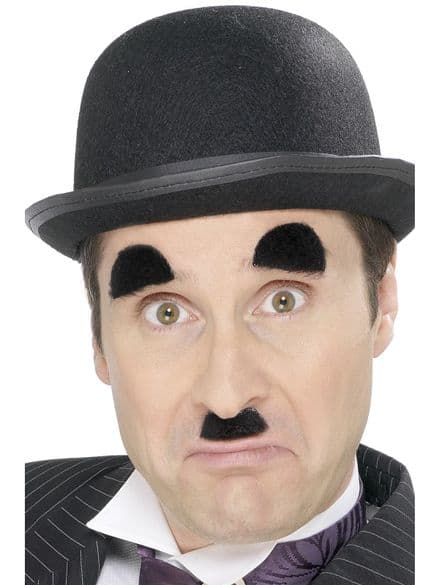Funny Side Comedy Chaplin Moustache & Eyebrows