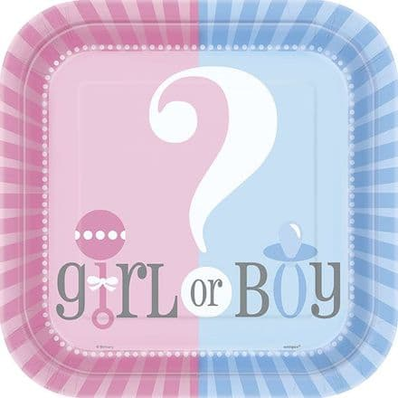 Gender Reveal Paper Party Plates