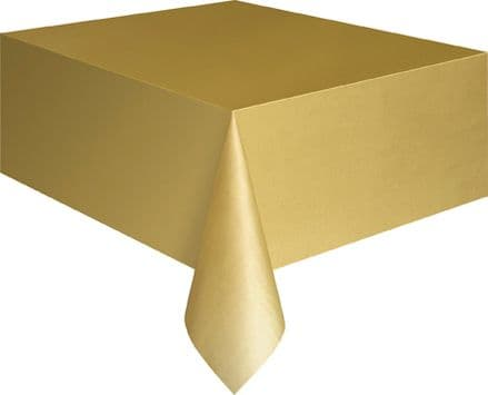 "Gold Rectangular Tablecover 54"" x 108""/ 137cm x 274cm"