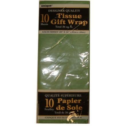 Green Tissue Paper 10 Sheet Pack