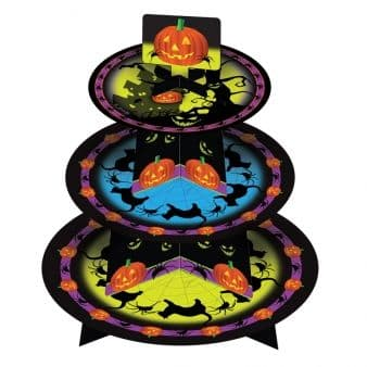 Halloween Black Cat & Pumpkin Cup Cake Tree Stand