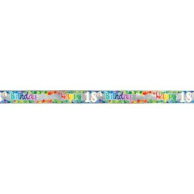 Happy 18th Birthday Multi colour Foil Banner