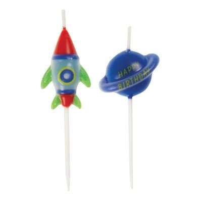 Happy Birthday Space Candles