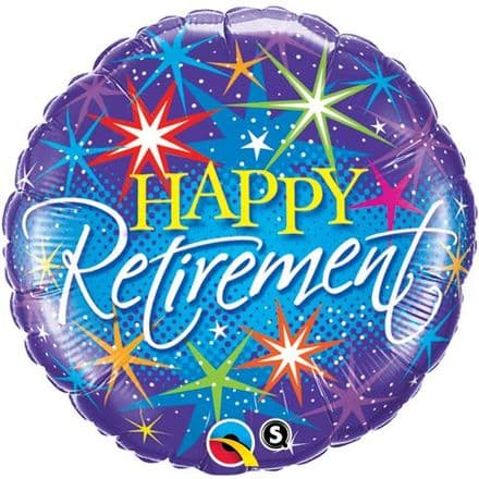 Happy Retirement Sparkle Foil Helium Balloon