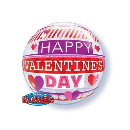 Happy Valentines Day Bands Bubble Balloon
