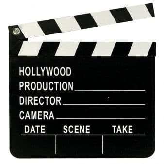 Hollywood Clapperboard Decoration