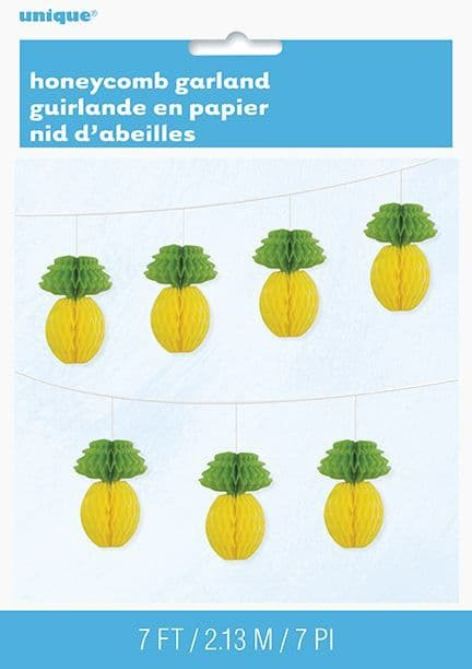 Honeycomb Pineapple Paper Garland
