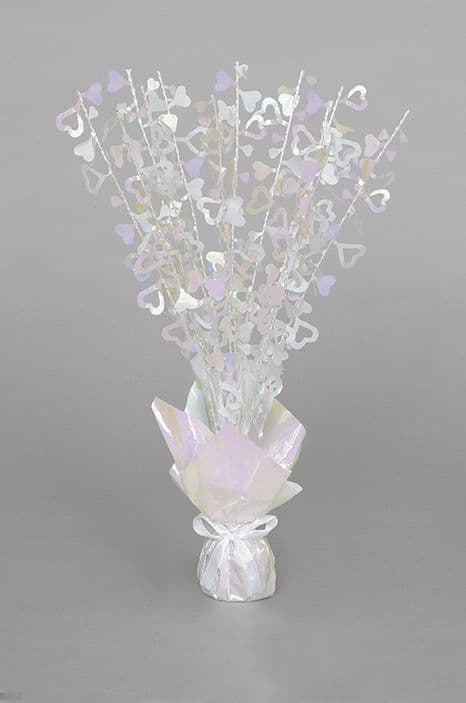 Iridescent Hearts Table Centrepiece