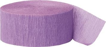 Lavender Crepe Paper Streamer Roll 81ft
