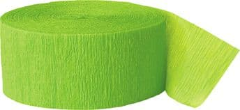 Lime Green Crepe Paper Streamer Roll 81ft