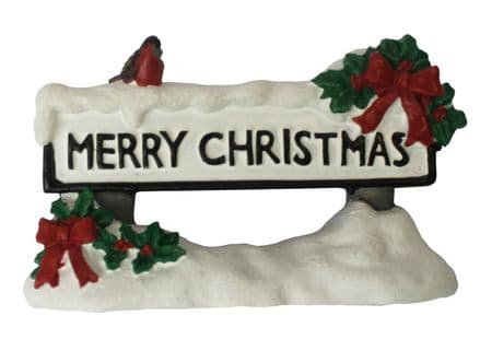 Merry Chirstmas Street Sign Cake Topper