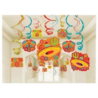 Mexican Fiesta Swirl Decorations