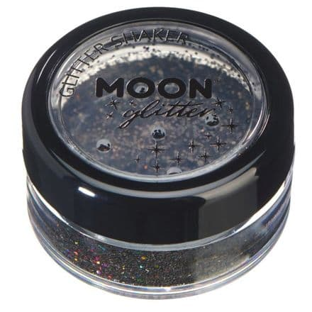 Moon Glitter Shaker in Black