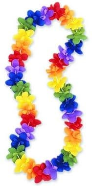 Multi-Colour Hawaiian Flower Lei