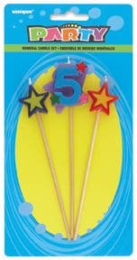 Number Five 5 Number Stars Birthday Cake Candles