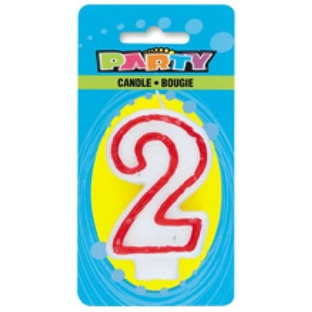 Number Two 2 Birthday Cake Candle