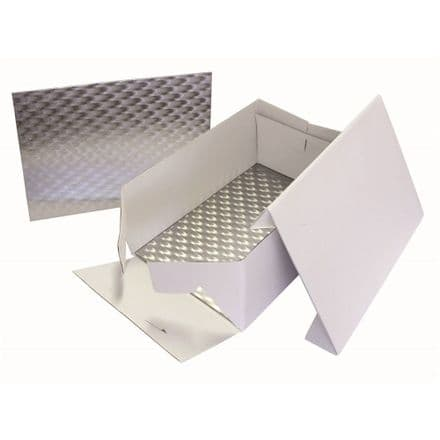 Oblong Cake Box & Card 15x11in