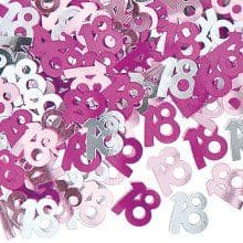 Pink Glitz 18th Birthday Party Confetti 14g