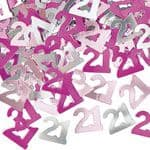 Pink Glitz 21st Birthday Party Confetti 14g