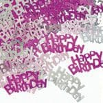 Pink Glitz 'Happy Birthday' Party Confetti 14g