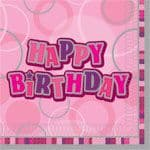 Pink Glitz Paper Party Luncheon Napkins
