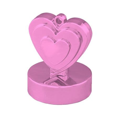 Pink Heart Balloon Weight