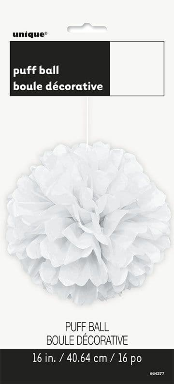 Puff Ball Decoration In White