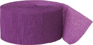 Purple Crepe Paper Streamer Roll 81ft