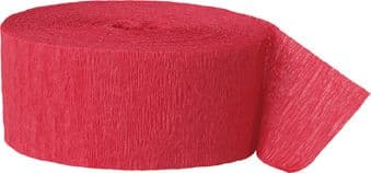 Red Crepe Paper Streamer Roll 81ft