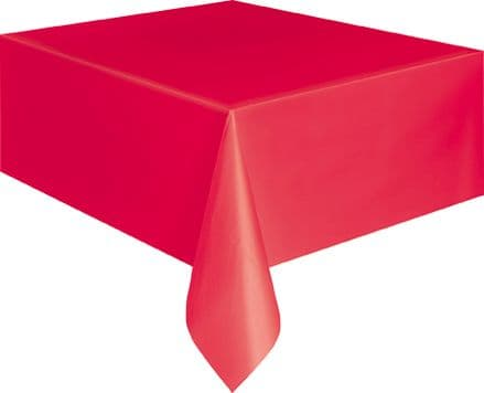 "Red Rectangular Tablecover 54"" x 108""/ 137cm x 274cm"