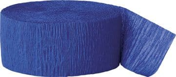 Royal Blue Crepe Paper Streamer Roll 81ft