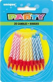 Spiral Cake Candles & Holders