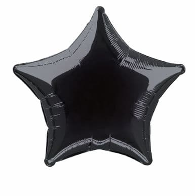 Star Shaped Black Foil Helium Balloon
