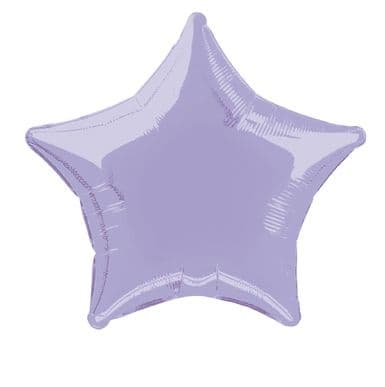 Star Shaped Lavender Foil Helium Balloon