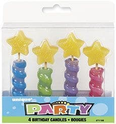 Star Top Candles 4Pk