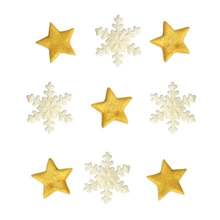 Stars and Snowflakes Sugar Decorations
