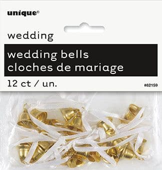 Wedding Favour Bells In Gold