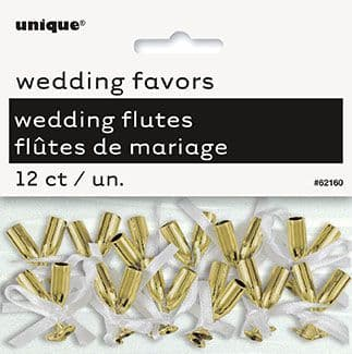Wedding Favour Flutes In Gold