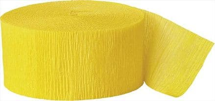Yellow Crepe Paper Streamer Roll 81ft