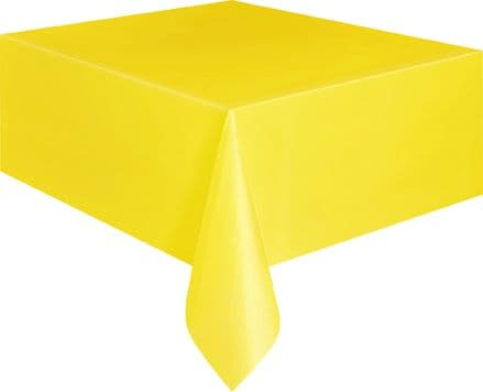 "Yellow Rectangular Tablecover 54"" x 108""/ 137cm x 274cm"