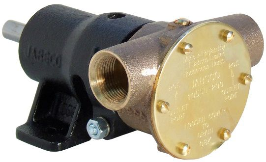 """Jabsco 10550-200, ¾"""" bronze pump, 40-size, foot-mounted with BSP threaded ports"""