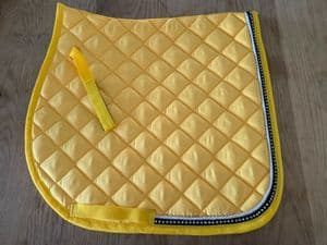 Gp Saddle Cloth With Diamante Crystals Yellow