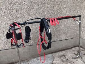 Quick Hitch Trotting Harness, red and black