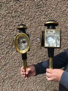 Used Brass oval lamps
