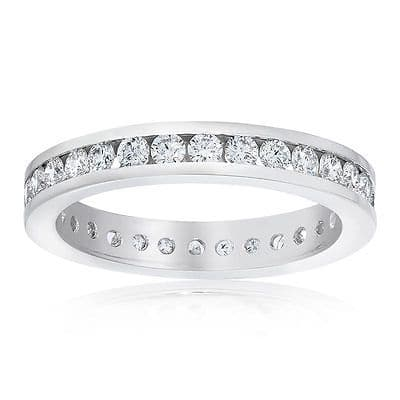 1ct VS2 Diamond Channel set 18ct White Gold Eternity Ring